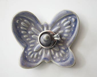 Butterfly Ring Dish in Shimmery Blue Purple