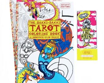 DUO Sakki Tarot Coloring Book Artists Edition