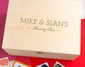 Wooden Memory Box Personalized