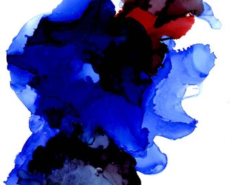 Downhearted | Original Alcohol Ink Painting