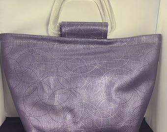 Tote Bag - Purple Metallic Circles