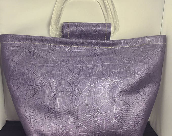 Tote Bag - Purple Metallic Circles