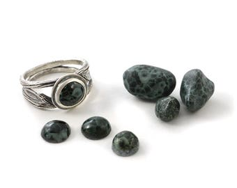 Choose your own Michigan Greenstone Summer Twig Handmade Sterling Silver Ring