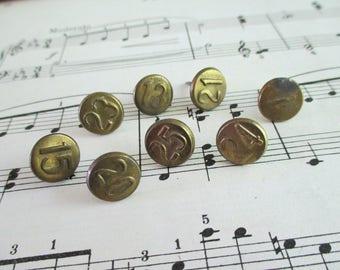 8 Vintage Numbered Brass Tacks - LOT E