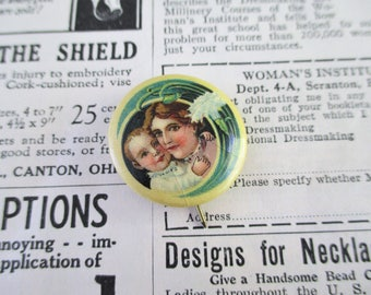 Vintage Celluloid Mother and Child Pin