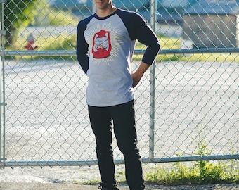 Lantern Baseball tee 3/4 sleeve screenprinted shirt