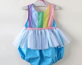 Rainbow Romper, Rainbow Baby, Rainbow Birthday, Baby Romper, Toddler Romper, Birthday Romper, Unicorn Birthday, Rainbow Birthday Smash Cake