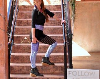 Qadesh Festival Pants - womens leggings - lace leggings - pocket leggings - Hippie Pants - Spandex Pants - Festival clothing - dance pants