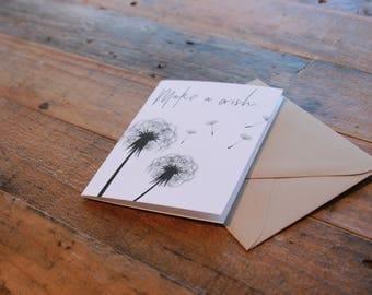 Dandelion Make a Wish Note Card
