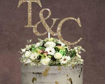 Monogram Cake Topper  ~ Custom Cake Topper ~ Monograms ~ Monograms Topper ~ Letters Cake Topper ~ Initials Cake Topper