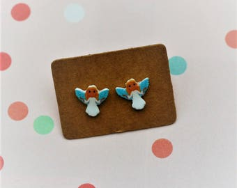 Angel Earrings, Teeny Tiny Earrings, Fairy Jewelry, Cute Earrings
