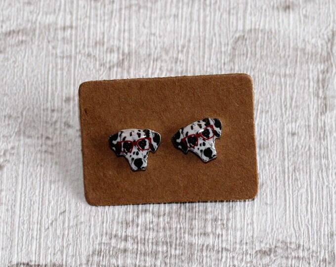 Dalmatian Earrings, Teeny Tiny Earrings, Dog Jewelry, Cute Earrings