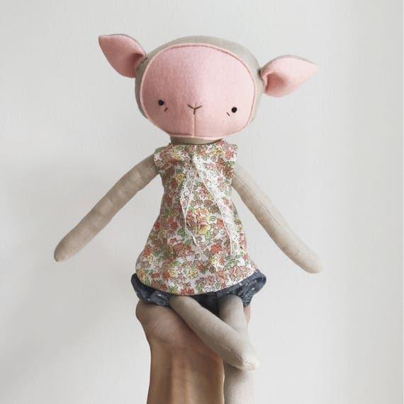 "the foundlings | handmade cloth lamb doll | ""posie"""