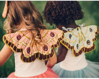 Butterfly Wings, Fairy Wings, Moth Wings, Faerie Wings, Tinkerbell, Birthday Gift for Girl, Quilted Dress Up Wings,