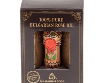 Pure Natural Essential Rose Oil Otto Attar Bulgarian Rosa Damascena 0.5 oz