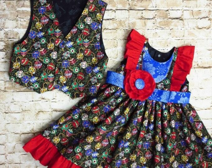 Boys Christmas - Christmas Vest - Toddler Christmas - Little Boy Vest - Little Boy Holiday - Holiday Photo Prop - Handmade - 12 mo to 8 yrs