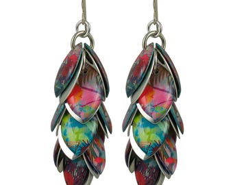 Nature's Rainbow Petals to the Metal Earrings