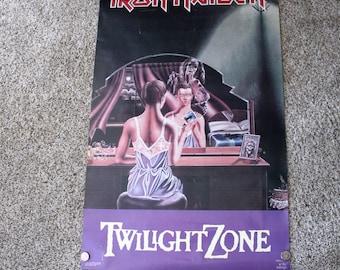 1987 Iron Maiden Poster, Twilight Zone Promo