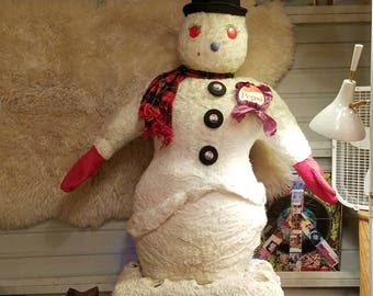 Pepsi Generation Mechanical Snowman Animated Store Display, Lights Up and Inflates