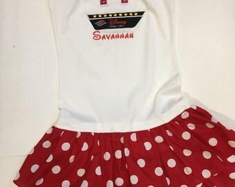 Disney Cruise Shirt Ruffle Tank Top or Shirt Dress youth