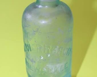 Vintage BLOBTOP Soda Bottle, 1800's, L. Werrbach