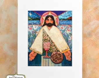 Supper of the Lord Art Print, First Communion gift, RCIA gift