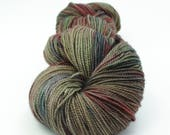 OOAK SPECIAL - Jest 2ply Merino/Nylon Sock - Olive/Blue/Red Test