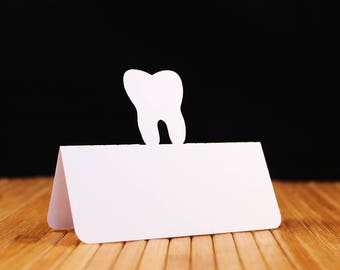 Tooth Place Cards, Tooth escort cards, Dentist wedding, Tooth Fairy party, rehearsal dinner