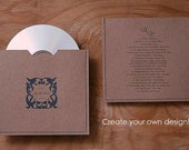 Rustic Wedding Favors, Rustic CD covers,Rustic Wedding CD Cover Favors, Kraft CD Covers, Kraft Disc Covers