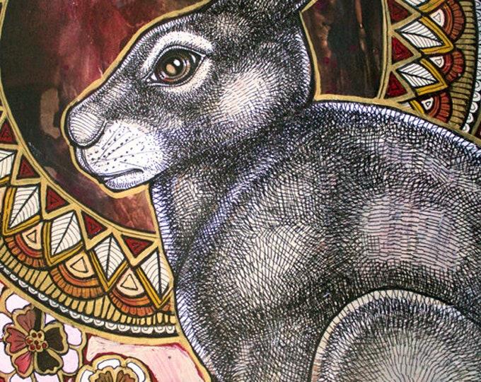 Sacred Hare Archival Art Print by Lynnette Shelley