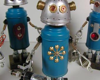 REPAIR TEAM Member #4 Found Object  Robot Sculpture Assemblage