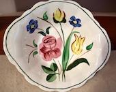 Blue Ridge Pottery-Garden Lane 1940s Fruit/Dessert/Sauce Bowl, Set of 3, Excellent Vtg Condition,Colorful Handpainted Floral Design