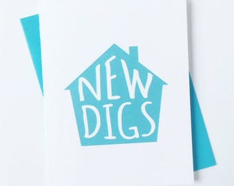Moving Card, New Home Card for Housewarming Party, New Home Owner Card, Congratulations Card, Miss You Card, New House Card for friend
