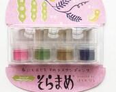 versacraft ink pads. tsukineko rubber stamp ink pad. preinked small daubers. water based pigment ink for paper fabric. set of 4. haikara