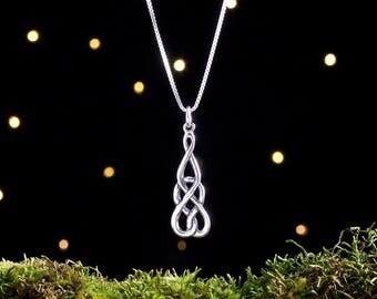 Sterling Silver Celtic Love Knot - (Pendant, Necklace, or Earrings)