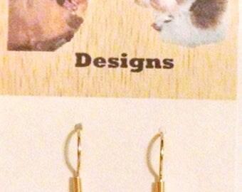 Yellow Ladybug Polymer Clay Earrings