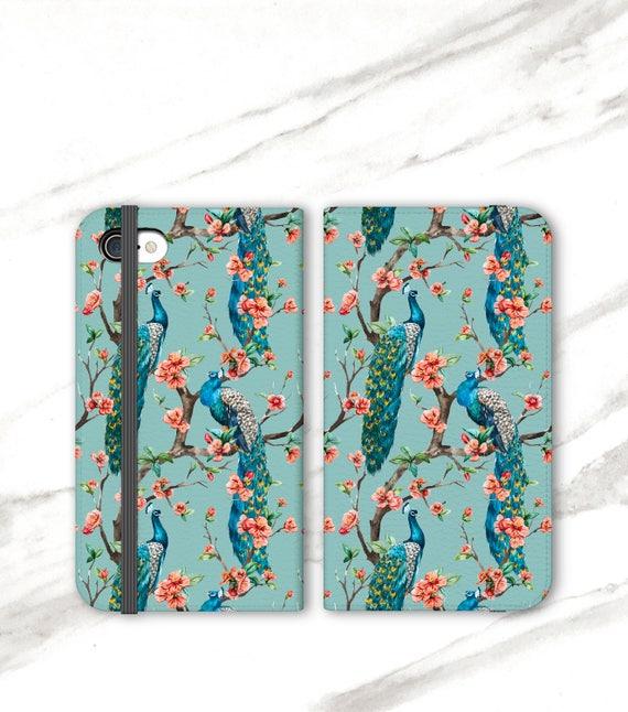 Peacock Pattern Wallet Case