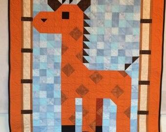 Giraffe Themed Childrens Quilt