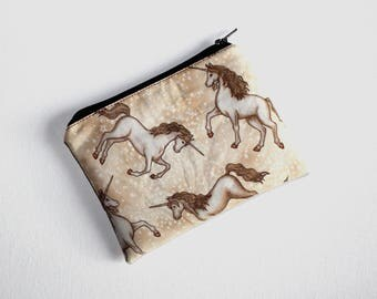 Useful Medium Size Pouch in Lovely Unicorn Fabric