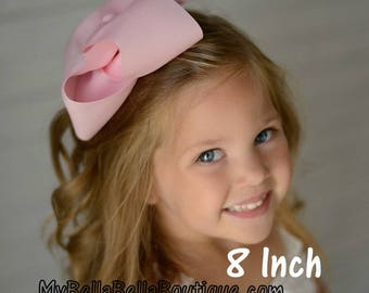 Girls Big Bows, Large Boutique Hairbows, You Pick 3, Lot Set of 3, Basic Big Bows, 6 7 or 8 Inch Bows, Girls Jumbo Bows, X-tra Large, Extra