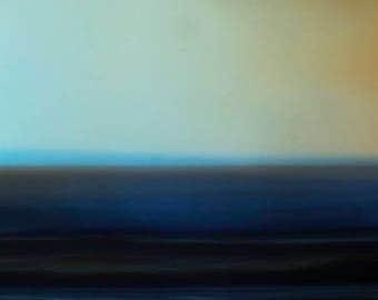 Royal Blue Seascape, moody blue sea, abstract seascape, blue storm photo, minimalist photo, modern photo, unique photo, art for bedroom