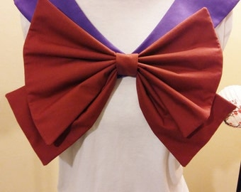 Purple Collar and Maroon Bow Sailor Scout Saturn Cosplay Costume