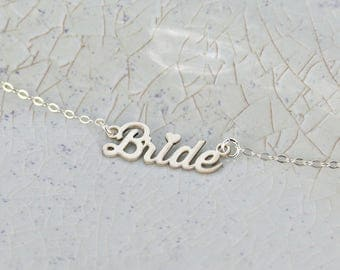 Bride Necklace • Bridal Necklace • New Wife Necklace • Wife to Be Necklace • Necklace for Brides • Bride Gift Necklace • Statement Necklace