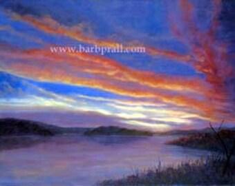 Heavenly  Light, oil on linen, 30 h x 40 w