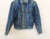 Men's Vintage Style Coats and Jackets 1970s Lee Blue Jean Jacket $58.00 AT vintagedancer.com