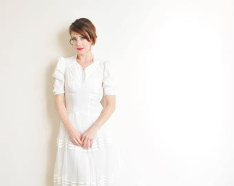 1940 sweetheart tulle wedding gown . retro pin up floor length dress .medium .sale