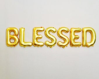 Blessed Balloons, Blessed Banner, Blessed, Baptism Balloons, Baptism Decorations, Christening Party, Thanksgiving Balloons, God Bless
