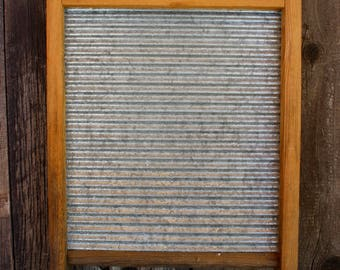 Vintage Metal and Wood Washboard Cottage - Wash Day - Wash Board - Laundry Day - Home Decor - Antique - Rustic - Laundry Room - Hand Washing