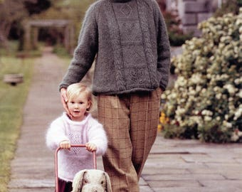 Classic Elite Yarns Knitting Pattern #609 Craigside Gardens Child Adult Sweaters