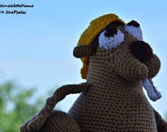 Buckey Beaver, Crochet Beaver, Stuffed Animal, Crochet Stuffed Animal, Handmade, Soft Toys, Beaver, Canadian Beaver, Plushies, Amigurumi